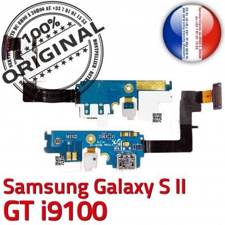 Samsung Galaxy S2 GT i9100 C Nappe Qualité OFFICIELLE Charge MicroUSB Antenne Microphone ORIGINAL Connecteur Prise Chargeur RESEAU