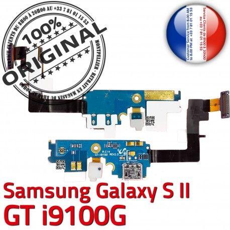 Samsung Galaxy S2 GT i9100G C Qualité RESEAU Microphone Charge Antenne Nappe Prise OFFICIELLE ORIGINAL Chargeur MicroUSB Connecteur