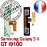 Samsung Galaxy S2 GT i9100 V Connector S Pins Volume Son Switch 2 ORIGINAL Dorés Nappe SLOT Contacts Circuit OR Connecteur souder à Bouton