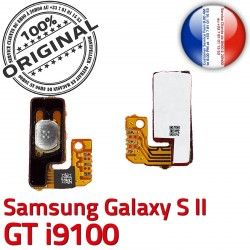 souder S2 Dorés SLOT OR Samsung P Arrêt ORIGINAL S i9100 Galaxy Bouton Circuit Marche Switch Connector 2 Pins Nappe Connecteur GT à Contacts