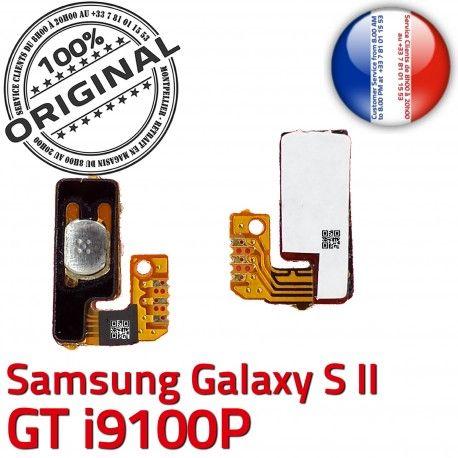 Samsung Galaxy S2 GT i9100P P Marche Circuit souder ORIGINAL OR Switch Connector Bouton Nappe Dorés S à Contacts 2 Arrêt Pin Connecteur SLOT
