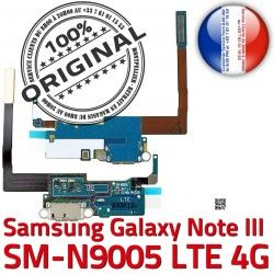 Chargeur Microphone LTE Qualité MicroUSB N9005 Charge Samsung ORIGINAL NOTE3 Galaxy Antenne OFFICIELLE SM C Nappe Connecteur RESEAU