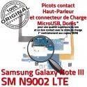 Samsung Galaxy NOTE3 SM N9002 C Chargeur MicroUSB LTE OFFICIELLE RESEAU Nappe ORIGINAL Antenne Connecteur Charge Microphone Qualité