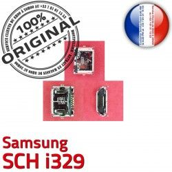 Flex souder Dock Connecteur charge Prise ORIGINAL SCH Samsung Connector Portable Chargeur Micro i329 Dorés C Pins à USB de