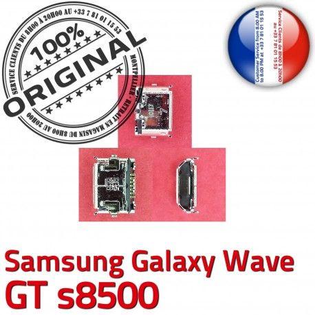 Samsung Galaxy Wave GT s8500 C de Dock Connecteur Pins USB ORIGINAL charge Micro Connector Chargeur à souder Dorés Prise Flex