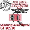 Samsung Galaxy Wave2 GT s8530 C charge souder Flex USB Pins Micro à Prise Chargeur de Connector Dock Connecteur Dorés ORIGINAL