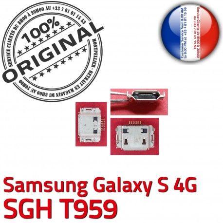 Samsung Galaxy S 4G SGH T959 C Micro de Dock USB Flex Connector Connecteur Prise Chargeur souder ORIGINAL à charge Pins Dorés