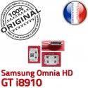 Samsung Omnia HD GT i8910 C Chargeur Connecteur souder USB Dock Pins Flex Connector charge ORIGINAL de Prise Dorés à Micro