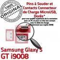 Samsung Galaxy S GT i9008 C Dock Connecteur de à souder Connector Chargeur Micro Pins ORIGINAL USB Prise Dorés charge Flex