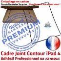 PACK A1459 Joint Nappe N Réparation Tactile Precollé Apple KIT Bouton Vitre Contour iPad4 Cadre Tablette Noire Adhésif HOME Plastique Verre