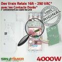 Commande Prises VMC 16A Contacteur Hebdomadaire Heures Jour-Nuit Electronique Creuses 4000W DIN Programmateur 4kW Rail Automatique