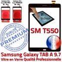 Samsung Galaxy TAB-A SM T550 N Assemblée Ecran Noir 9.7 Verre Assemblé PREMIUM Adhésif Noire SM-T550 Tactile Vitre Supérieure Qualité