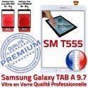 Samsung Galaxy TAB-A SM T555 B Verre Adhésif Ecran Assemblé Supérieure SM-T555 Qualité Vitre Blanche 9.7 Assemblée PREMIUM Tactile Blanc