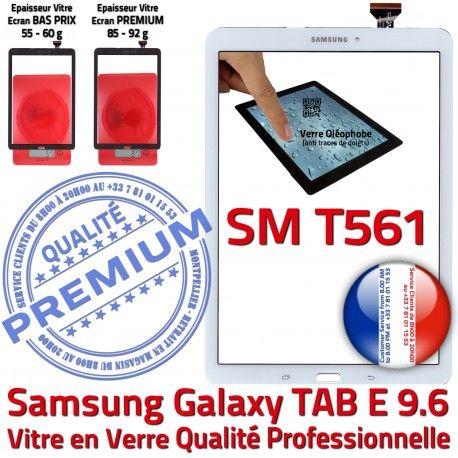 Samsung Galaxy TAB-E SM T561 B Adhésif Blanc Blanche Assemblée 9.6 Verre Vitre Supérieure Qualité SM-T561 Tactile Ecran Assemblé PREMIUM