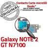 Samsung Galaxy NOTE2 GT N7100 S1 Qualité Connecteur Micro-SD Nappe ORIGINAL Doré Reader SIM Connector Lecteur Memoire Carte Contact