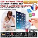Protection Lumière UV iPad A1822 Trempé Filtre Vitre Verre Film Ecran Incassable Apple Anti-Rayures ESR Bleue Protecteur Chocs AIR