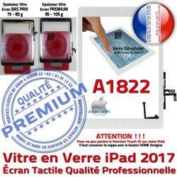 Nappe Ecran Vitre Réparation Fixation Monté Qualité Verre IC Blanc iPad Tactile Oléophobe Adhésif Tablette Caméra A1822 HOME AIR