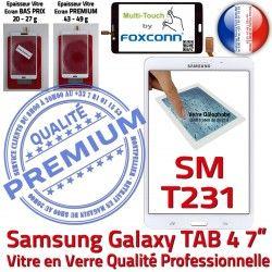 Adhésif Prémonté Supérieure B Verre SM 4 T231 Vitre Assemblée Qualité Samsung Galaxy PREMIUM Blanche Tactile Ecran TAB4 TAB LCD inch 7 SM-T231