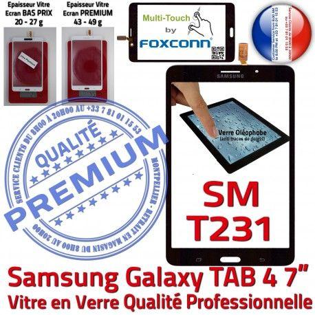 Samsung Galaxy TAB 4 SM-T231 N Vitre Supérieure SM Prémonté Ecran TAB4 7 Qualité Adhésif T231 Assemblée PREMIUM inch LCD Verre Tactile Noire