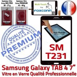 Noire Assemblée Verre Samsung LCD N Galaxy TAB4 PREMIUM NZWAXEF Prémonté Vitre Ecran SM-T231 SM-T231NZWAXEF Tactile Supérieure Adhésif Qualité