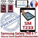 Samsung Galaxy SM-T233 TAB4 N Verre Supérieure Adhésif Prémonté Vitre Qualité 7 Assemblée Ecran Noire LCD inch Tactile PREMIUM