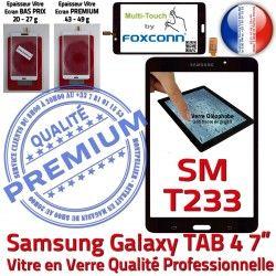 Samsung Prémonté Assemblée Verre LCD Galaxy Supérieure SM-T233 Noire Ecran Tactile Vitre PREMIUM Adhésif TAB4 NZWAXEF N SM-T233NZWAXEF Qualité