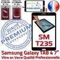 Samsung Galaxy SM-T235 NZWAXEF N Noire Tactile Supérieure PREMIUM Prémonté Adhésif Vitre Ecran Qualité TAB4 Verre LCD Assemblée