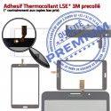 Samsung Galaxy SM-T235 TAB4 N Prémonté LCD inch Verre Tactile Supérieure PREMIUM Vitre Noire Adhésif 7 Assemblée Qualité Ecran