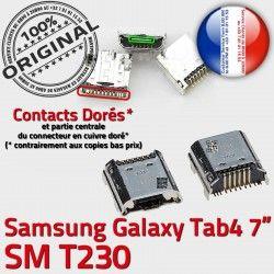 Dorés Galaxy charge Chargeur à Dock Pins Tab4 USB de ORIGINAL MicroUSB SLOT TAB4 Prise Qualité Connector Fiche souder SM-T230 Samsung