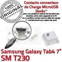 Samsung Galaxy Tab4 SM-T230 USB Fiche souder à Prise Pins ORIGINAL charge SLOT de Dorés Chargeur Dock Connector TAB4 MicroUSB Qualité
