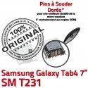 Samsung Galaxy Tab4 SM-T231 USB charge souder SLOT Prise Connector à Dorés Dock Qualité TAB4 Pins de Chargeur MicroUSB Fiche ORIGINAL