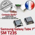 Samsung Galaxy Tab 4 T235 USB Connecteur Dock TAB 7 Connector Chargeur Pins de SM Micro charge Prise à Dorés inch souder ORIGINAL