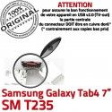 Samsung Galaxy Tab 4 T235 USB souder Dock ORIGINAL Chargeur Prise Pins Dorés inch à SM Connecteur Connector TAB de 7 charge Micro
