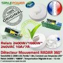 Détection de Mouvements SINOPowe Radar Énergie LED 360° Micro-Ondes Ampoules Capteur Automatique Relais Luminaire Économie HF Éclairage