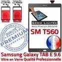 Samsung Galaxy TAB-E SM T560 Ant Adhésif SM-T560 Qualité Assemblée Anthracite PREMIUM Limitée Ecran Gris Tactile 9.6 Série Vitre Verre