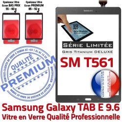 Tactile T561 Ant Galaxy SM-T561 9.6 Qualité Vitre Anthracite Ecran Samsung E Adhésif Série PREMIUM Limitée Verre TAB-E TAB SM Assemblée Gris