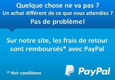 Vos frais de retour remboursés L'article que vous avez acheté en ligne ne vous plaît pas ?
