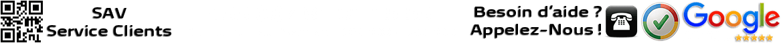 Service Clients ouvert du: Lundi au Samedi de 8h00 à 20h00